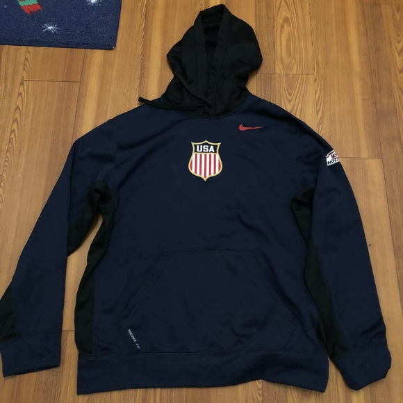 Other - USA HOCKEY NIKE THERMA FIT HOODIE NAVY LARGE